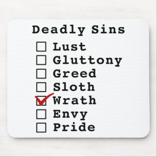 Seven Deadly Sins Checklist (0000100) Mouse Pads