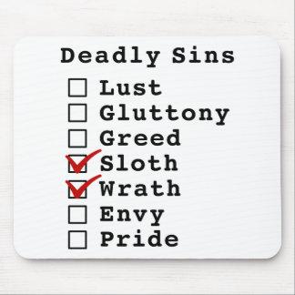Seven Deadly Sins Checklist 0001100 Mouse Pads