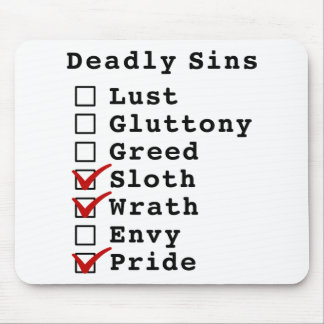 Seven Deadly Sins Checklist (0001101) Mouse Pads