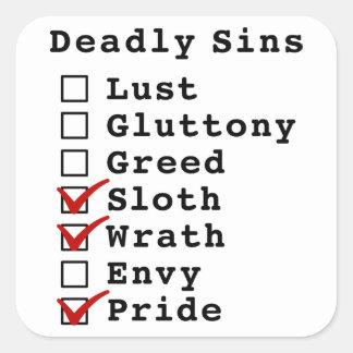 Seven Deadly Sins Checklist (0001101) Sticker