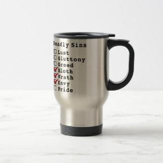 Seven Deadly Sins Checklist (0001110) Coffee Mugs