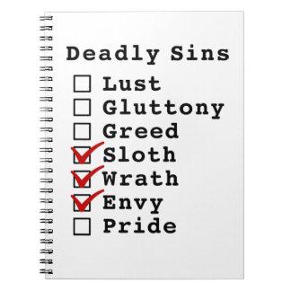 Seven Deadly Sins Checklist 0001110 Notebooks