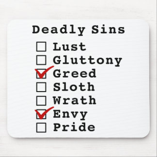 Seven Deadly Sins Checklist (0010010) Mouse Pad