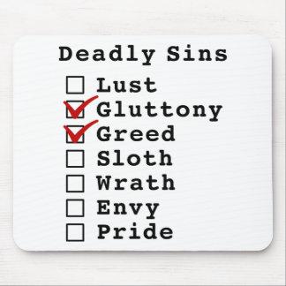 Seven Deadly Sins Checklist 0110000 Mousepads