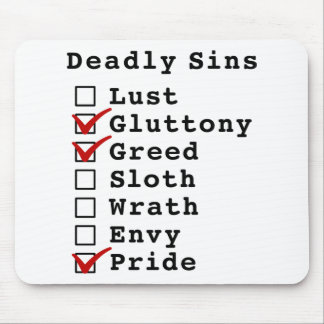 Seven Deadly Sins Checklist (0110001) Mouse Pads