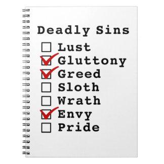 Seven Deadly Sins Checklist 0110010 Journal