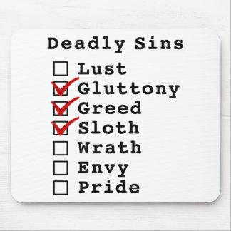 Seven Deadly Sins Checklist 0111000 Mousepad