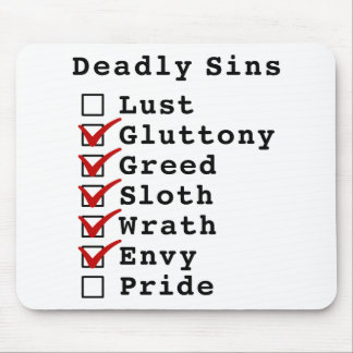 Seven Deadly Sins Checklist (0111110) Mouse Pad