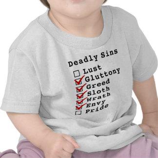 Seven Deadly Sins Checklist (0111110) Tee Shirts