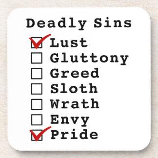 Seven Deadly Sins Checklist (1000001) Drink Coaster