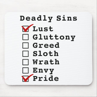Seven Deadly Sins Checklist (1000001) Mouse Pads