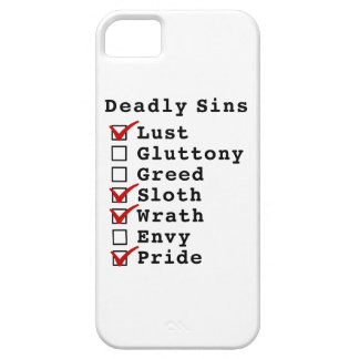 Seven Deadly Sins Checklist (1001101) iPhone 5 Covers