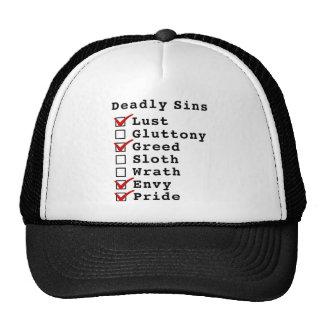 Seven Deadly Sins Checklist 1010011 Trucker Hat