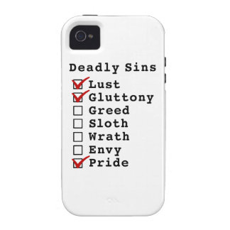 Seven Deadly Sins Checklist (1100001) Vibe iPhone 4 Case