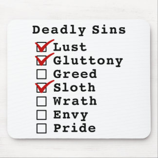 Seven Deadly Sins Checklist (1101000) Mouse Pads