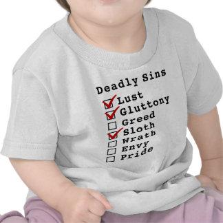 Seven Deadly Sins Checklist (1101000) T-shirt