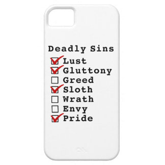 Seven Deadly Sins Checklist (1101001) iPhone 5 Cover