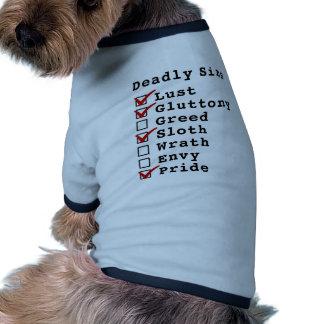 Seven Deadly Sins Checklist 1101001 Dog T-shirt