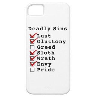 Seven Deadly Sins Checklist (1101110) iPhone 5 Case