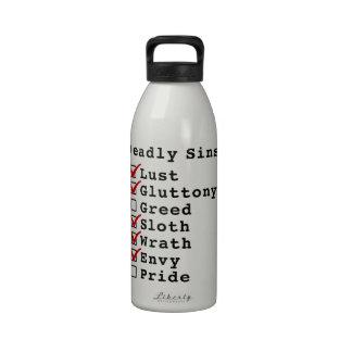Seven Deadly Sins Checklist 1101110 Water Bottle