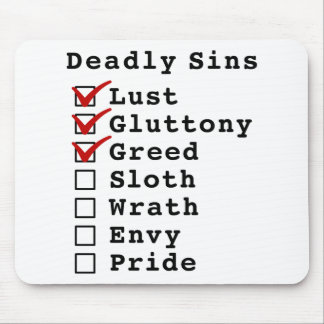 Seven Deadly Sins Checklist (1110000) Mouse Pads
