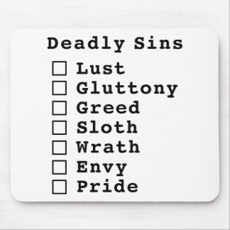 Seven Deadly Sins Checklist - blank (0000000) Mouse Pad