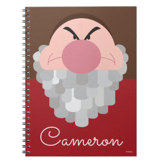 Seven Dwarfs - Grumpy Character - Personalized Notebook