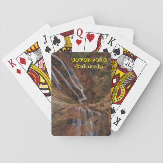 Seven Falls Colorado Playing Cards