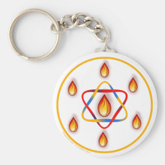 seven Flames Star Keychains