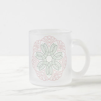 Seven Flower Knot Frosted Glass Coffee Mug