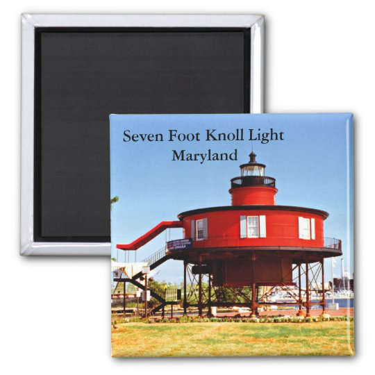 Seven Foot Knoll Light, Maryland Magnet