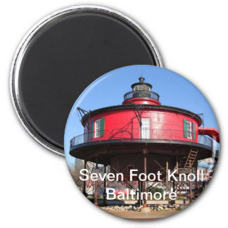 Seven Foot Knoll Lighthouse Magnet