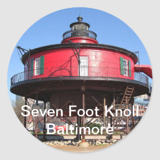 Seven Foot Knoll Lighthouse Stickers