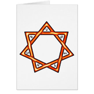 Seven Gifts Star Greeting Card