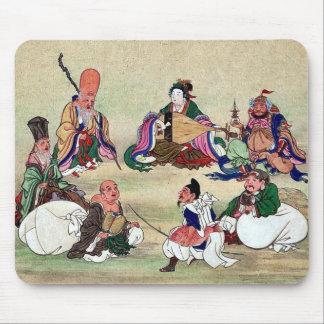 Seven gods of good luck Ukiyoe Mousepad