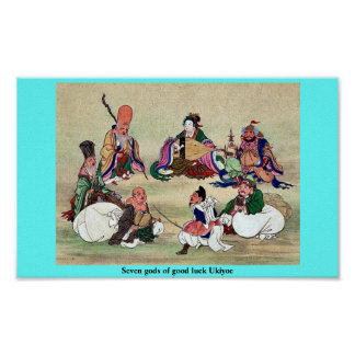 Seven gods of good luck Ukiyoe Print