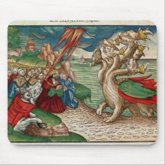 Seven-headed serpent from the Book of Mouse Pad