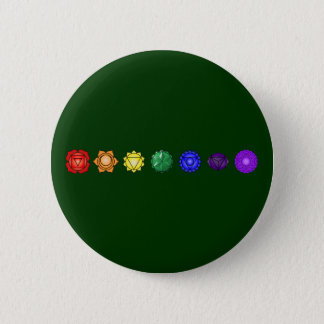 Seven Horizontal Chakras 6 Cm Round Badge