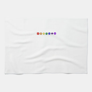 Seven Horizontal Chakras Tea Towel