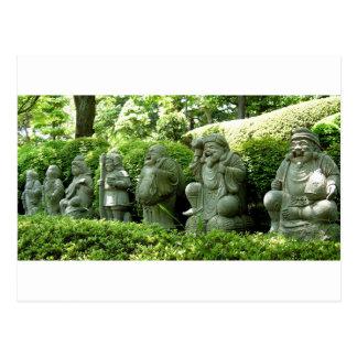 Seven Lucky Gods of Japan Postcard