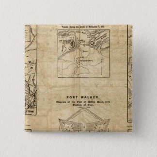 Seven maps from the New York Herald 15 Cm Square Badge