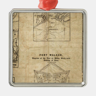 Seven maps from the New York Herald Christmas Ornament