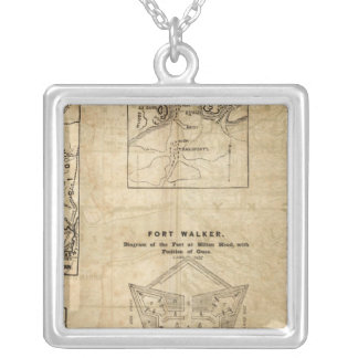 Seven maps from the New York Herald Silver Plated Necklace