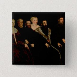 Seven members of the Soranzo Family 15 Cm Square Badge