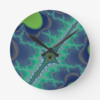Seven Mile Fractal Art Creation Round Wall Clock