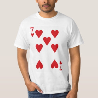 Seven of Hearts Playing Card T-Shirt