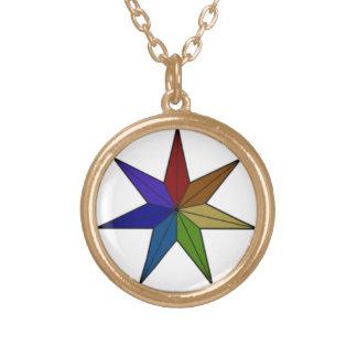Seven-Pointed Dark Rainbow Necklace
