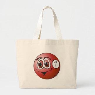 Seven Pool Ball Cartoon Tote Bags