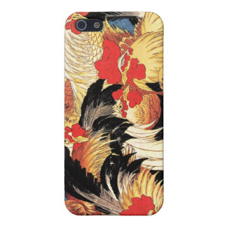 Seven Roosters, Hokusai iPhone 5/5S Case