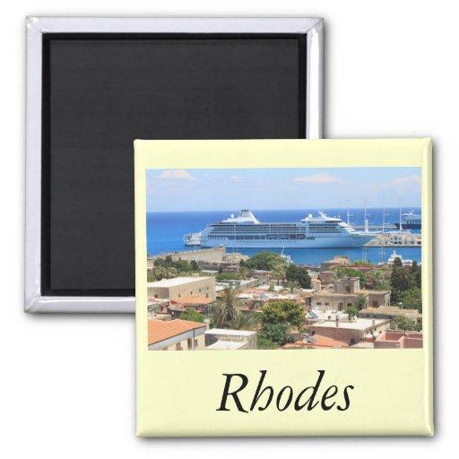 Seven Seas Mariner at Rhodes Fridge Magnet